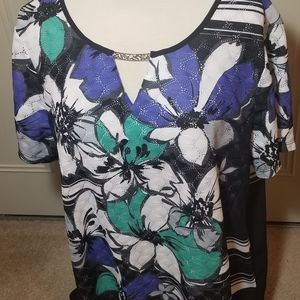 Floral Alfred Dunner shirt